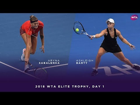 Aryna Sabalenka vs. Ashleigh Barty | 2018 WTA Elite Trophy Day 1 | WTA Highlights
