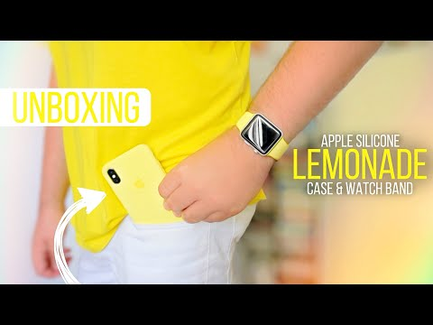 IPhone X Apple Silicone Case & Apple Watch Band - Lemonade UNBOXING