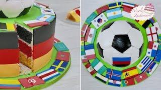 Fussballtorte zur FIFA WM 2018 I Motivtorte von Nicoles Zuckerwerk