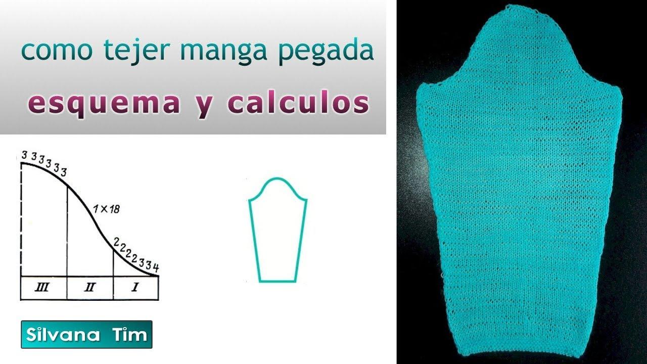 Cómo tejer MANGA pegada. Esquema y cálculos # 607 - YouTube