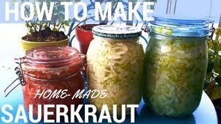 How to Make Gut Healing Home Made Fermented Organic Garlic SAUERKRAUT