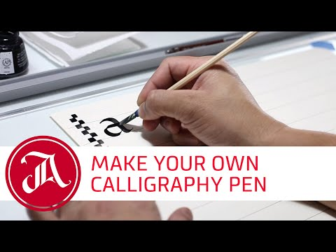 How to make a handmade calligraphy pen with everyday materials