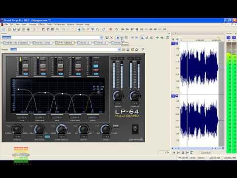 Curso Sound Forge Pro 10 - Aula 24 - Masterização  Sound Forge