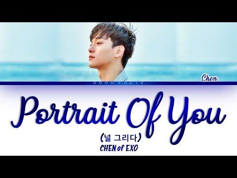 CHEN 첸 &39;Portrait Of You&39; 널 그리다 가사 HanRomEng