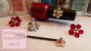 DIY Nail Polish Flowers - Take 2
