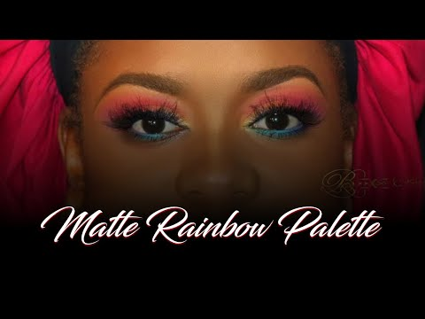 Rainbow eyeshadow tutorial Airbrush Makeup ✿ 18 ✿