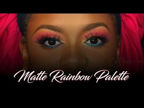 Rainbow eyeshadow tutorial Airbrush Makeup ✿ 18 ✿