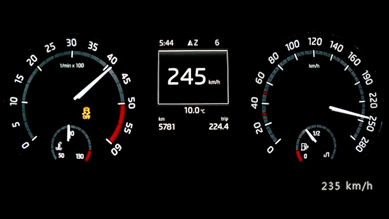 Skoda Octavia III RS TDI 2013 - acceleration 0-220 km/h, top speed test and more