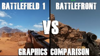 Battlefield 1 VS BATTLEFRON GRAPHICS COMPARISON