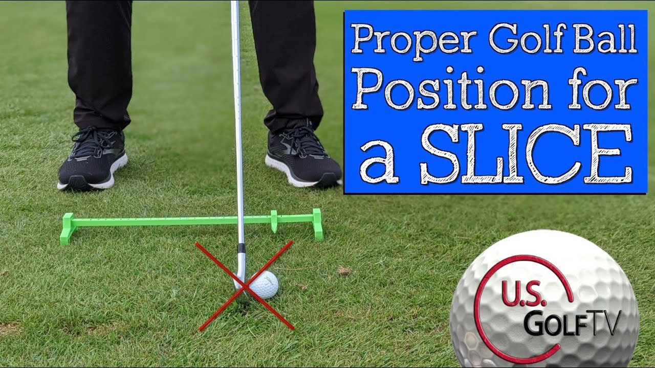 How to Use Ball Position to Fix Your Iron Golf Swing (Golf Ball Position for Slice)