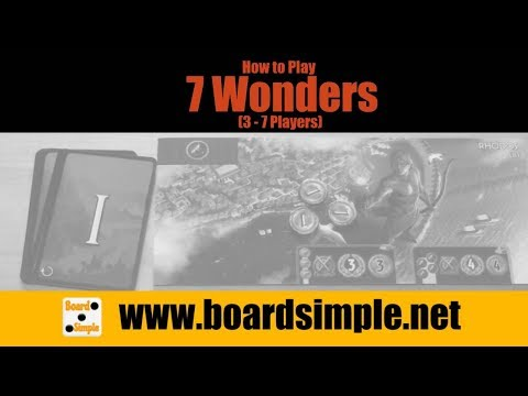 How to Play - 7 Wonders (for 3-7 Players)