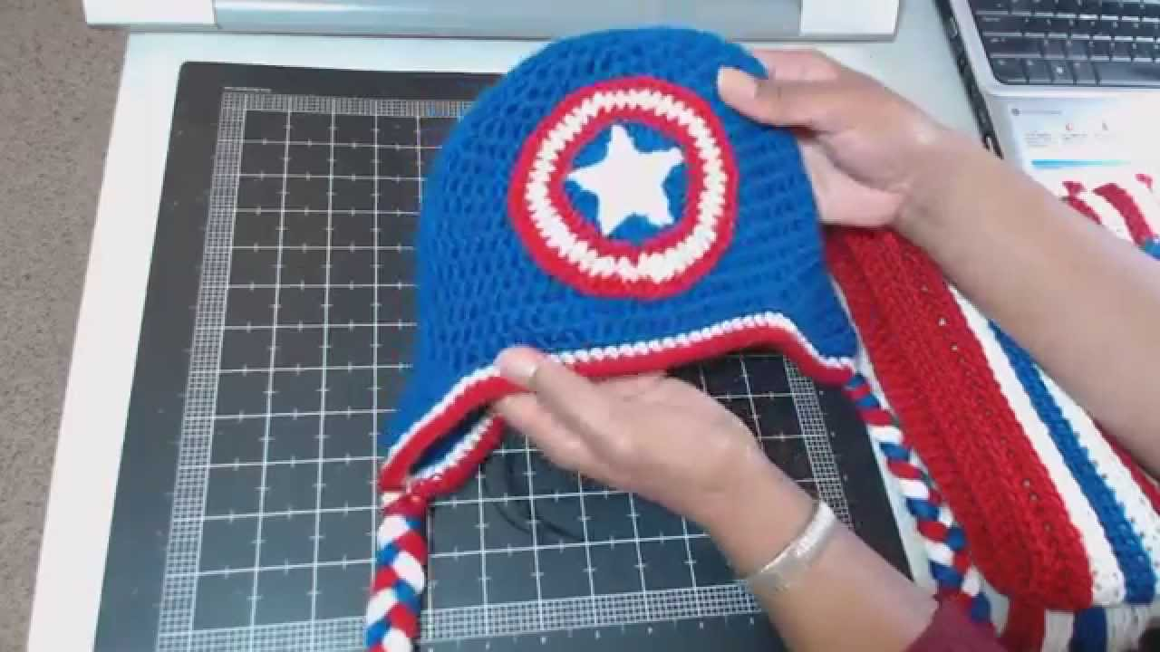 11-18-14  Captain America Crochet Set - YouTube 3b27f81fd38