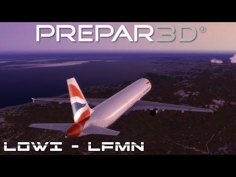 Prepar3d - Innsbruck nach Nizza / LOWI - LFMN - Deutsch