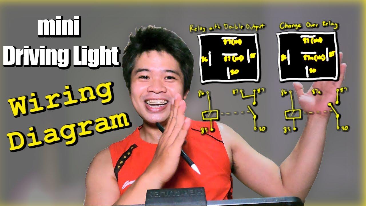 Aerox mini Driving Light Wiring Diagram   Dual Relay - YouTube   Aerox Wiring Diagram      YouTube