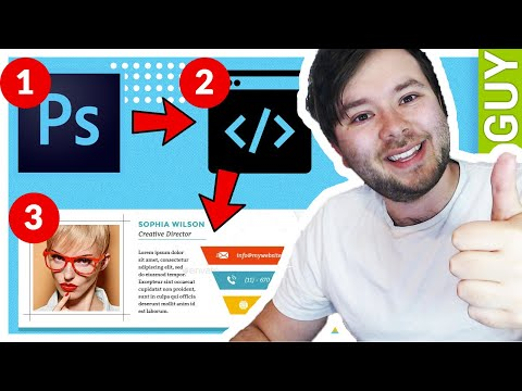 Photoshop Design Into An HTML Email Signature (2019 Novice Tutorial)
