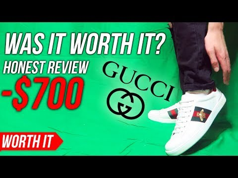 Gucci Ace Sneaker - Worth The Price? (GUCCI SHOES REVIEW/ ON FEET)