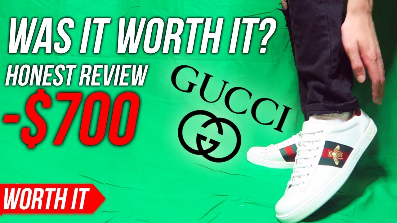 313582b2ce5 Gucci Ace Sneaker - Worth The Price  (GUCCI SHOES REVIEW  ON FEET ...