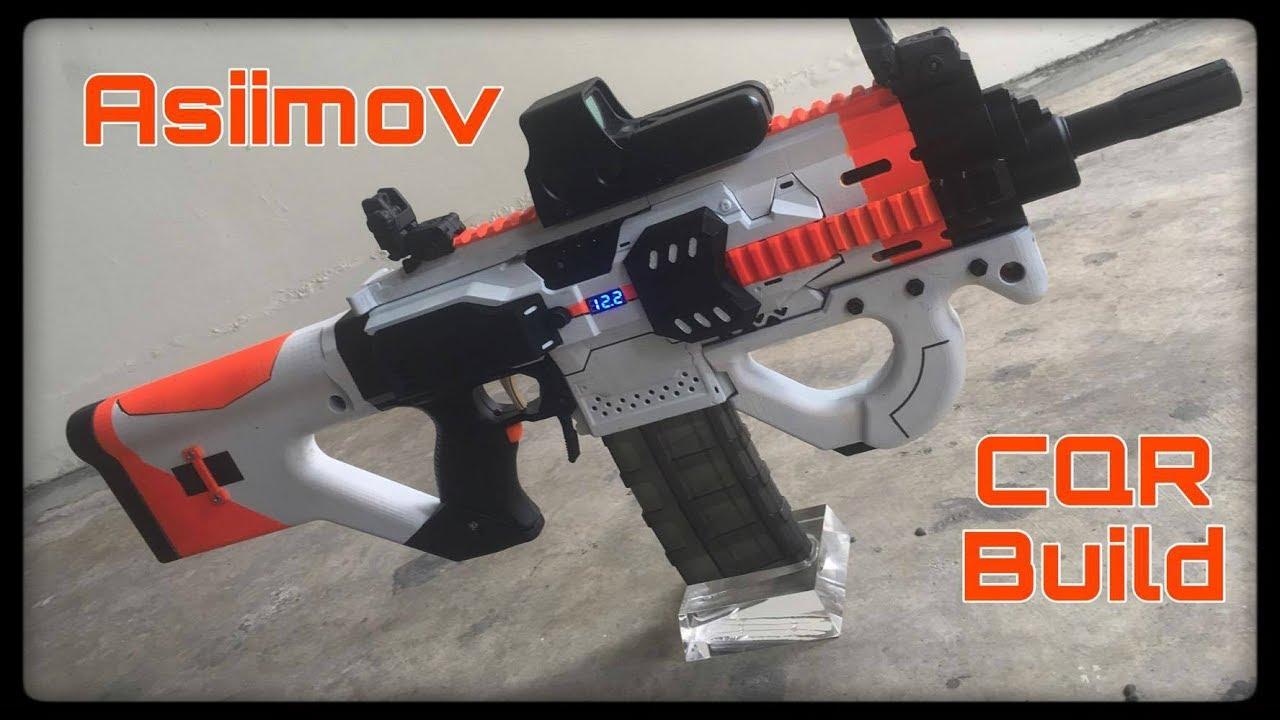 Nerf Mod: The Asiimov CQR Nerf Gun (Battle Tested!)