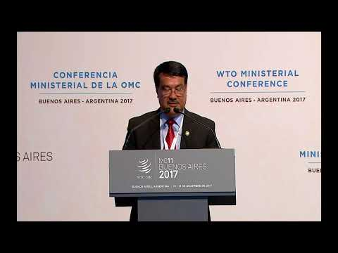 Statement delivery by Commerce Minister in WTO 11th MC, Buenos Aires, Argentina