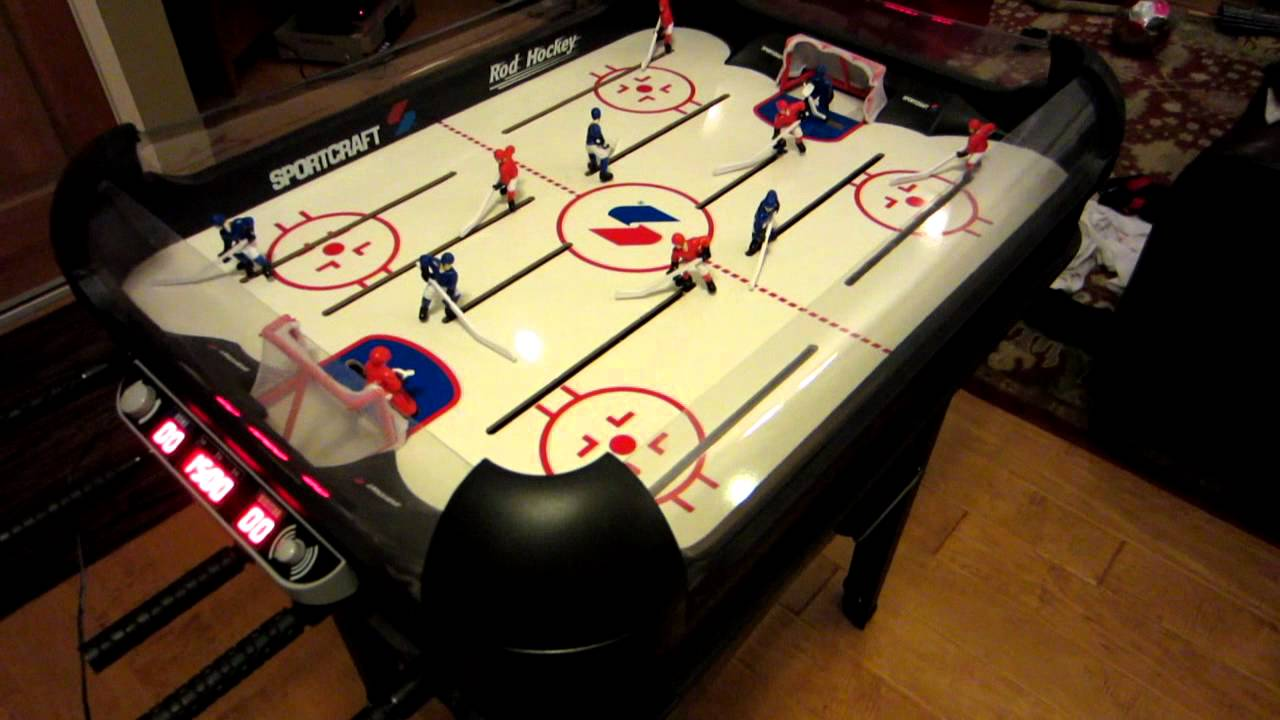 Sportcraft Electronic Rod Hockey - YouTube