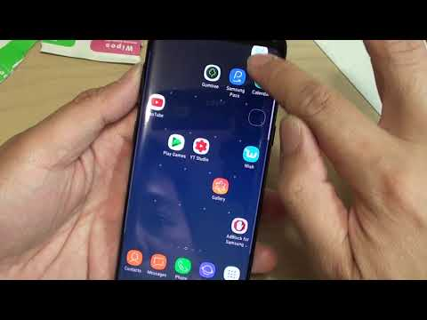 Samsung Galaxy S8: Install Temper Glass and Touch Sensitivity Test