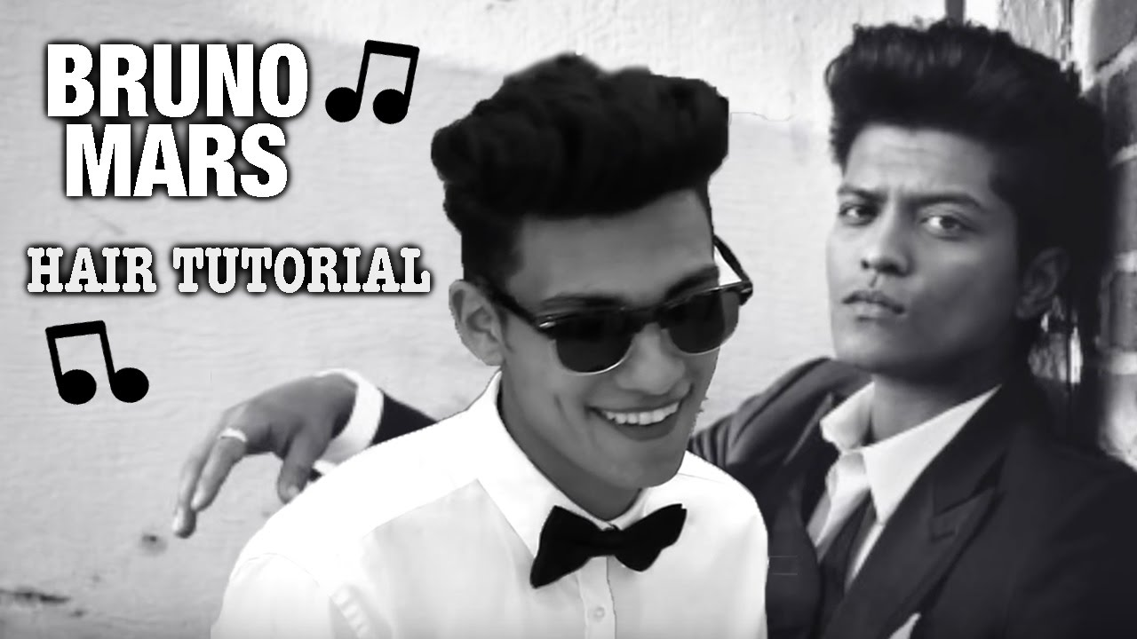 bruno mars best hair tutorial | curly pomp | pompadour | mens hairstyle |