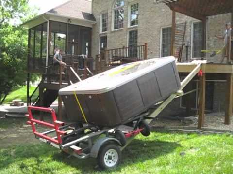 Artesian High Deck Spa Hot Tub Move Hot Tub Moving Mover