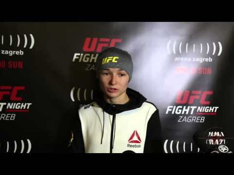 Maryna Moroz UFC Fight Night Zagreb Post Fight Media Scrum