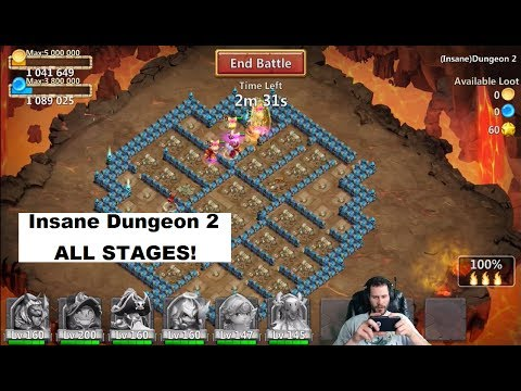JT's Free 2 Play INSANE Dungeon 2 With AnubiS Castle Clash