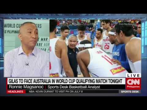Gilas to face Australia in World Cup qualifying match tonight