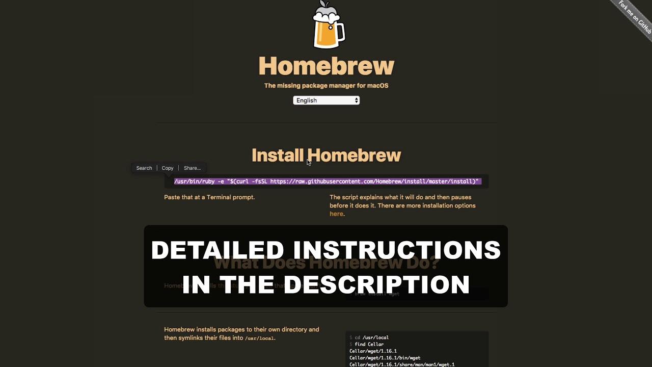 installing wget through homebrew
