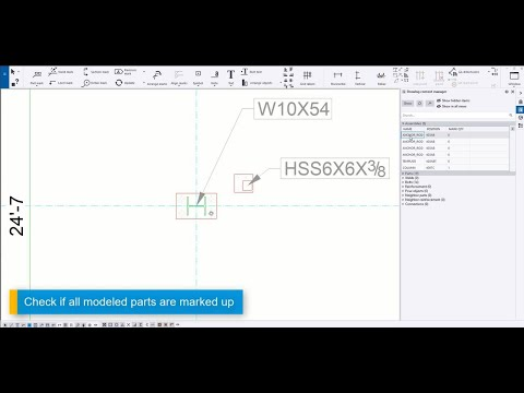 Tips for easier drawing editing in Tekla Structures