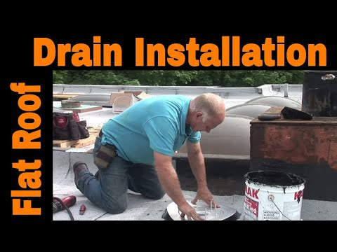 How To Install A Drain On A Flat Roof