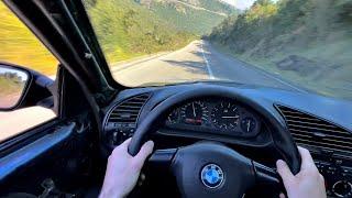 POV: Loud BMW E36 320i Saturday Drive - Pure 6 cylinder sound!