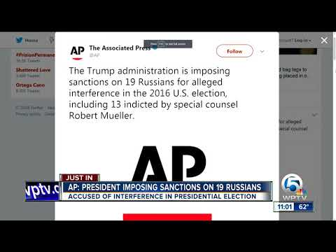 US imposes sanctions on Russians for US election meddling
