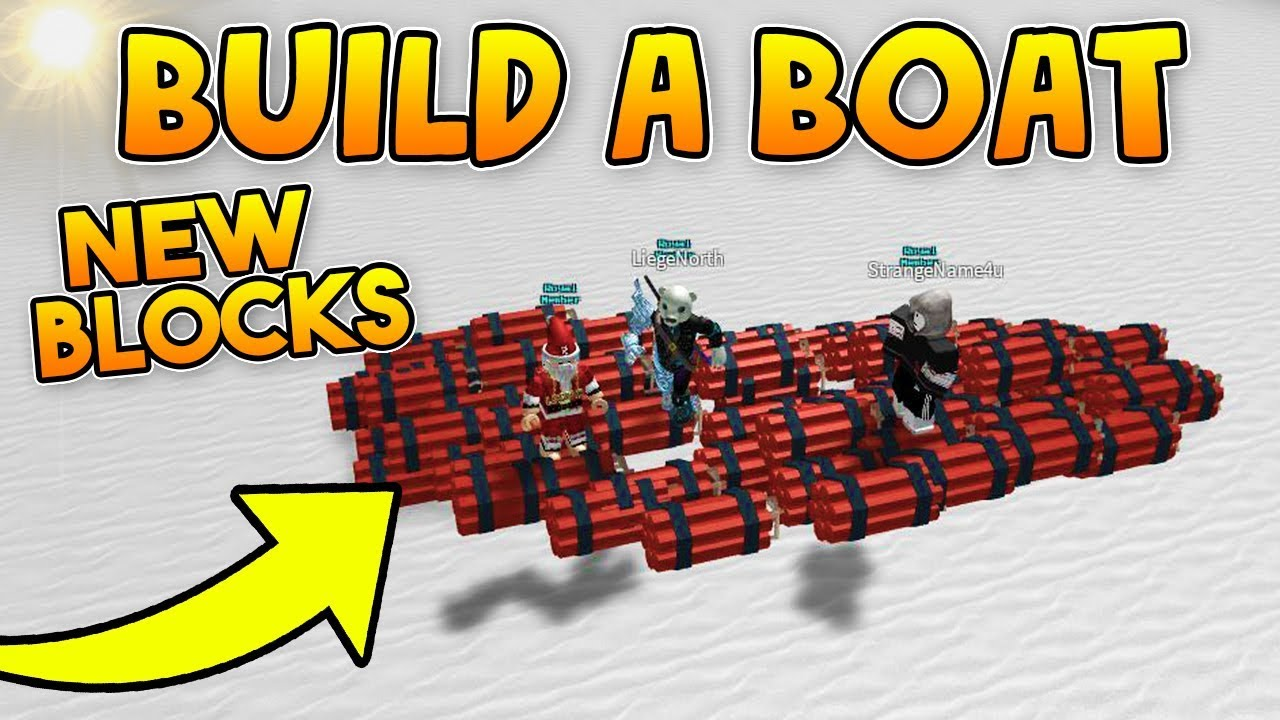 New Dynamite Block Hacked Item Build A Boat For Treasure