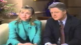 Bill & Hillary Clinton Extramarital Affairs 1992 60 Minutes