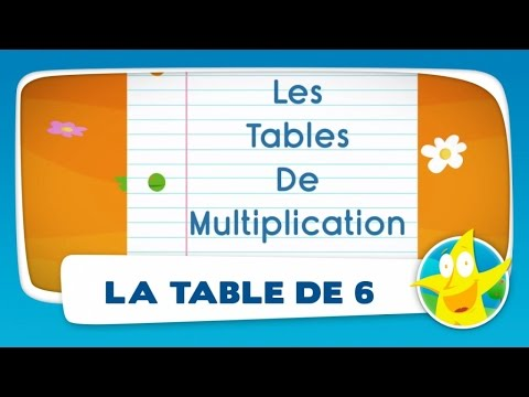 Comptines pour enfants la table de 6 apprendre les for Table de multiplication 6