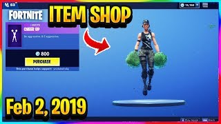 *NEW* FREE TOY IN FORTNITE AND CHEER UP EMOTE! | FORTNITE ITEM SHOP! (Feb 2, 2019)