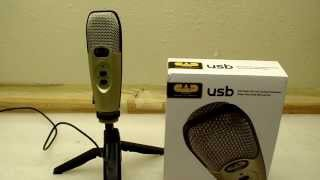 cad audio u37 usb studio microphone review