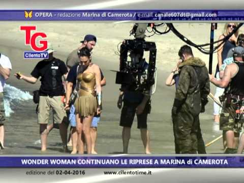 Wonder Woman continuano le riprese a Marina di Camerota (video)