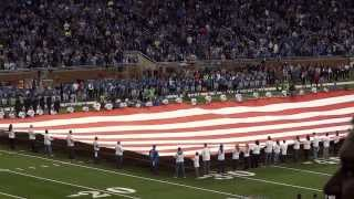 National Anthem -Detroit Lions 2013 Thanksgiving Game performed by Jackie Evancho
