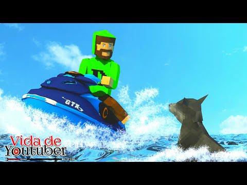 pilotando um jet ski -Vida de Youtuber-