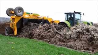 Compostage de fumier : Claas Arion 640 & Ménart 4800 SP [HD]