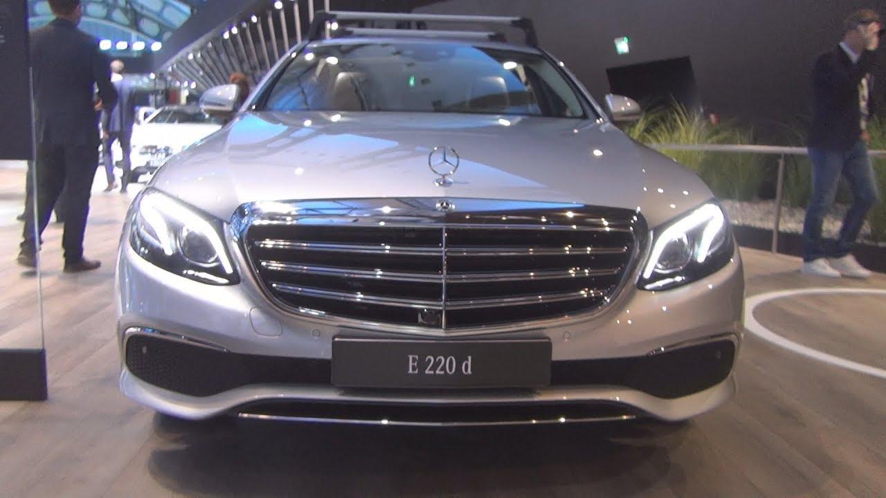 Mercedes Benz E 220 D Saloon 2018 Exterior And Interior Youtube