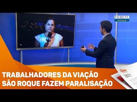 Trabalhadores da Viação São Roque fazem paralisação - TV SOROCABA/SBT
