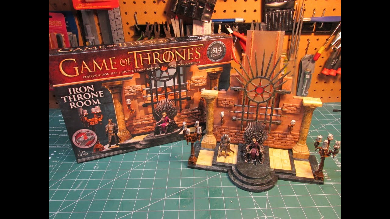 game thrones iron. Game Of Thrones Iron Throne Room McFarlane Toys Construction Set Review And Build