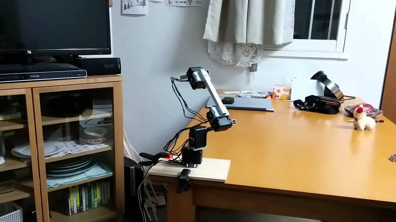 Dynamixel robot arm moving around smoothly