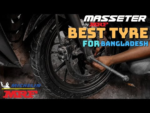 Best Budget Tyre In Bangladesh | Masseter by MRF | New Front Tyre installation | Mirza Anik