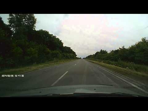 Танки на трассе Чернигов-Гомель и испорченная дорога